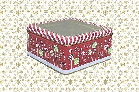 Dabaoliangfen Ventana Abierta Caja de Lata de Metal Transparente Caja de Regalo Cuadrada Caja de Galletas Caja de Regalo @ A: Amazon.es: Hogar
