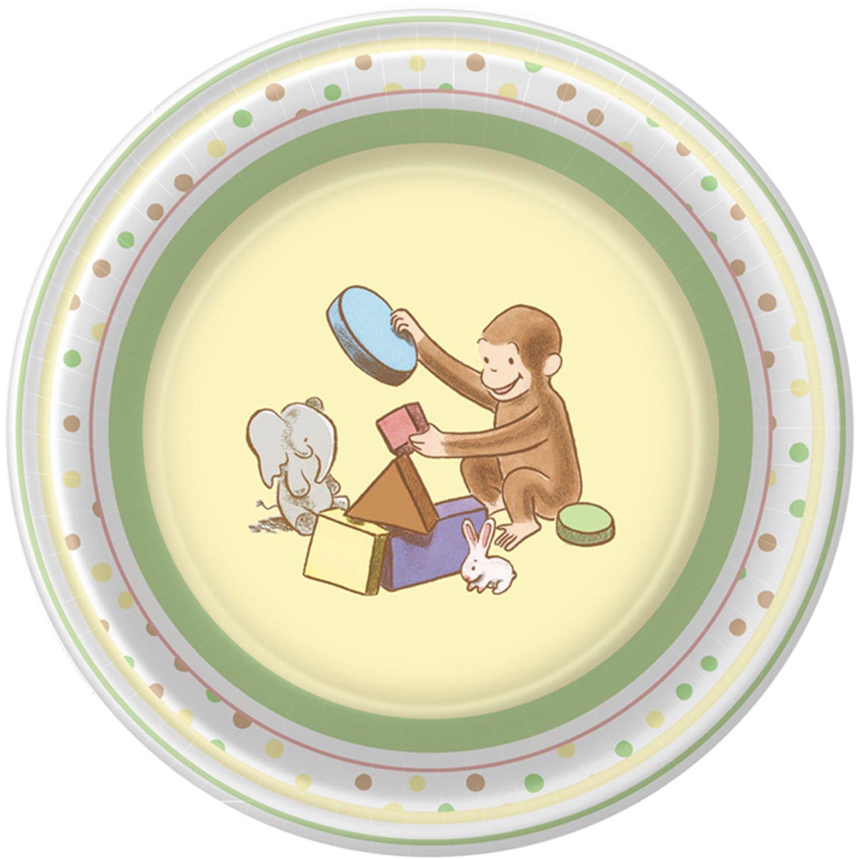 Amazon.com Curious George Baby Party Supplies Dessert Plates - 8 Each Toys u0026 Games  sc 1 st  Amazon.com & Amazon.com: Curious George Baby Party Supplies Dessert Plates - 8 ...