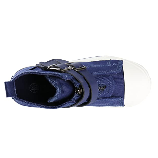 Kentti Sneaker a Collo Alto Stella, Scarpe da Ginnastica Alte Unisex-Bambini Nero 32 EU/13 UK