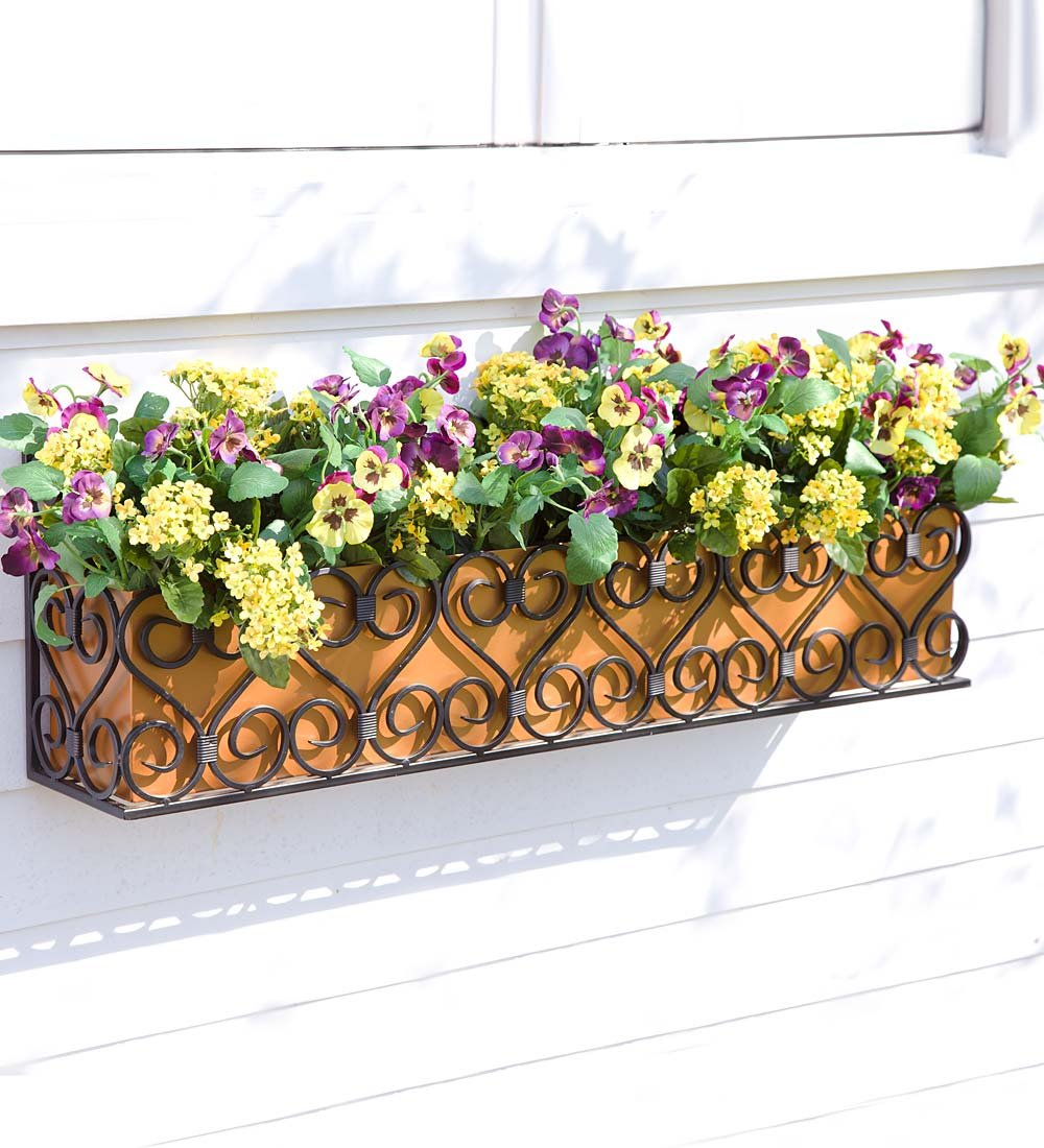 Decorative Iron Scroll Window Box by Plow & Hearth