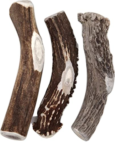 Deer Valley Chews Premium Deer Antler for Dogs – Large 6-7 Inches Long – All Natural Dental Treat for Teething and Chewing – Premium Grade, Naturally Shed