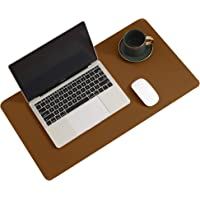 Leather Desk Pad Protector,Mouse Pad,Office Desk Mat,Non-Slip PU Leather Desk Blotter,Laptop Desk Pad,Waterproof Desk Writing Pad for Office and Home (Brown,23.6″ x 13.7