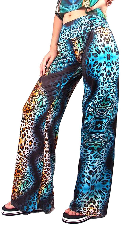Genhao Women Fashion Casual Flower Print Wide Leg Dancing Pants