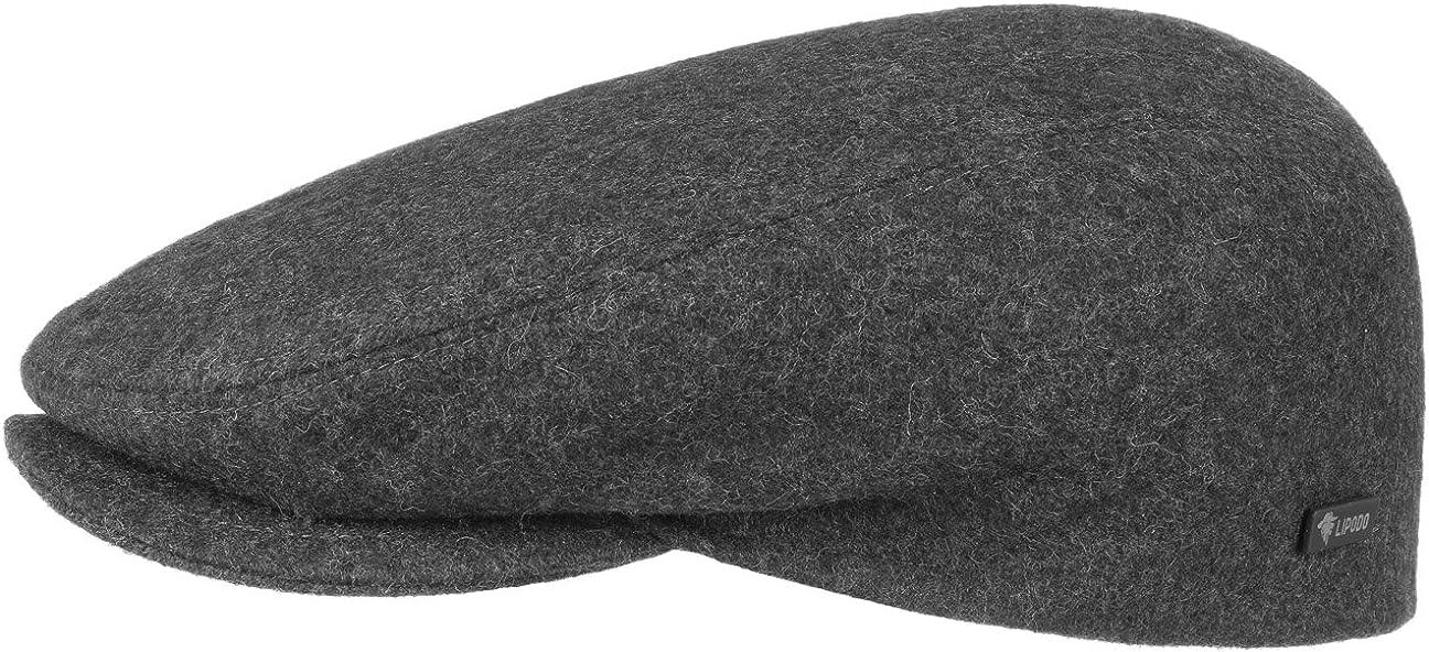 Autumn Winter Lipodo Sport Flat Cap Olive-Green for Men and Women Flat Cap with Peak in Sizes XS 53 cm XXL 62 cm Sporty Peaked Cap