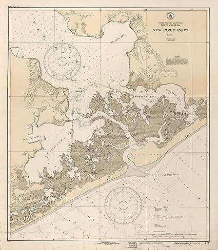 Amazon.com: Vintage 1932 Map of United States, East Coast, North ...