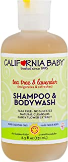 product image for California Baby Tea Tree and Lavender Shampoo and Body Wash - Hair, Face, and Body | Gentle, Allergy Tested | Dry, Sensitive Skin, 8.5 ounces