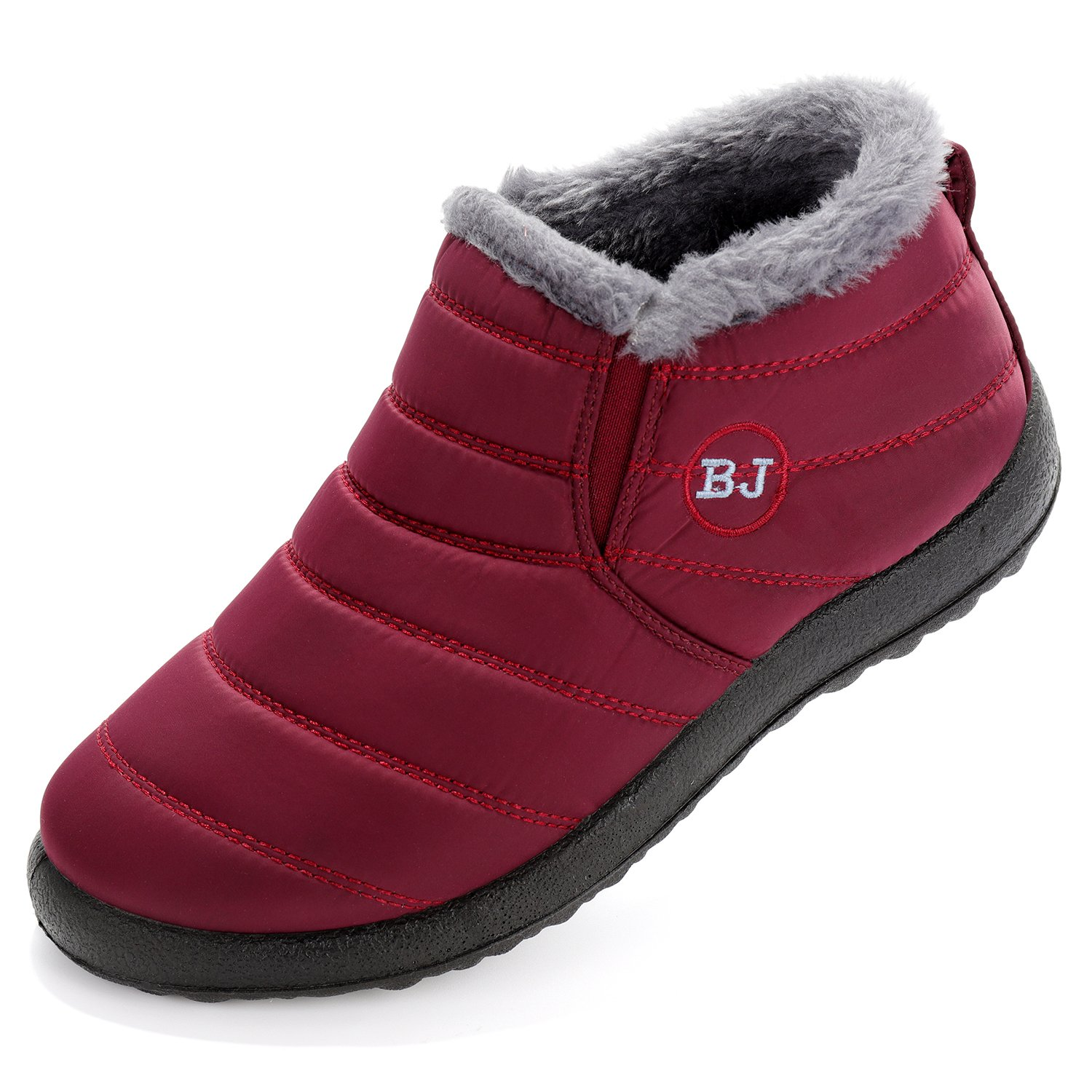 Cattle Shop Women Men Winter Slip-Proof Waterproof Snow Boots Outdoor Anti-Slip Snow Boots Warm Shoes