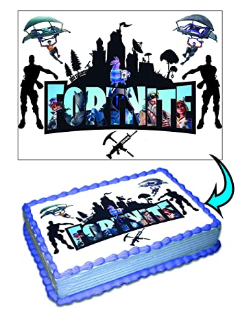 image regarding Edible Printable Paper for Cakes identify Fortnite Cake Toppers Icing Sugar Paper 8.5 x 11.5 Inches Sheet Edible Frosting Photograph Birthday Cake