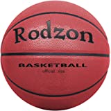 """Rodzon Basketball Outdoor/Indoor Game Basketball with Pump, Needles, Basketball Net--Official Size 7 (29.5"""")"""
