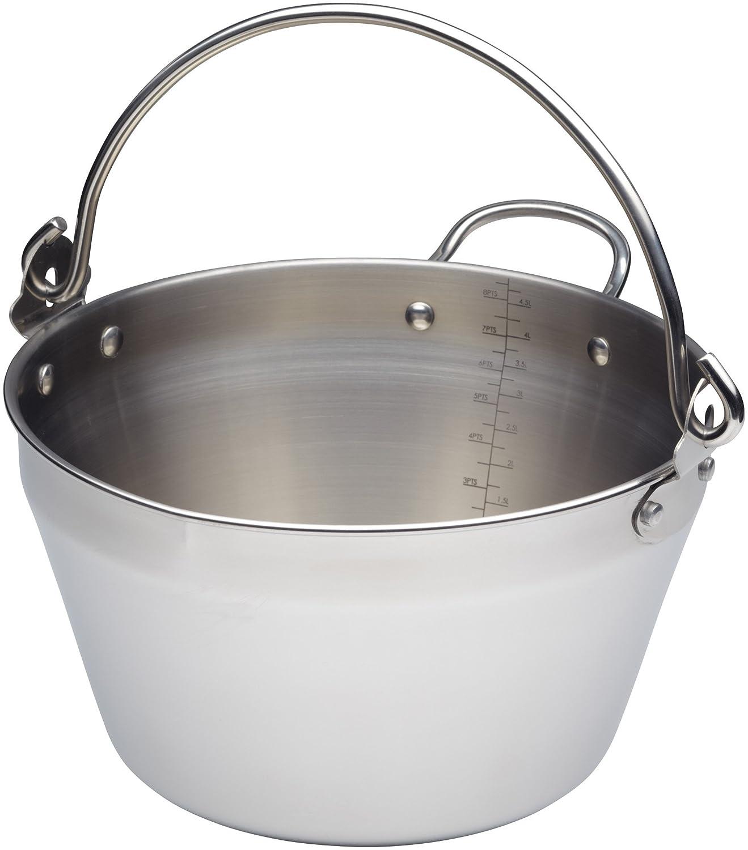Kitchen Craft 4.5 Litre Home Made Mini Maslin Pan, Stainless Steel, Silver, 9 x 12 x 16 cm Kitchencraft KCHMMINIMASLIN
