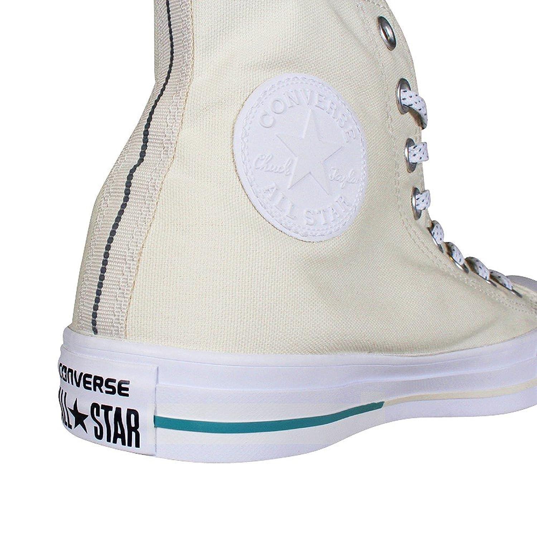 Converse Chuck 153502C Sneaker High Shield Canvas Buff/Aegean Aqua/White, Schuhe Unisex:41