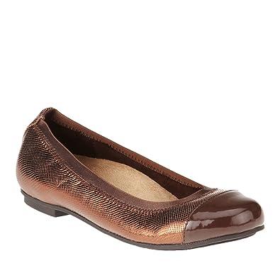 3ced49b37e4a4 Amazon.com | Vionic with Orthaheel Technology Women's Allora Ballet Flat,  Bronze Lizard, US 6 M | Flats