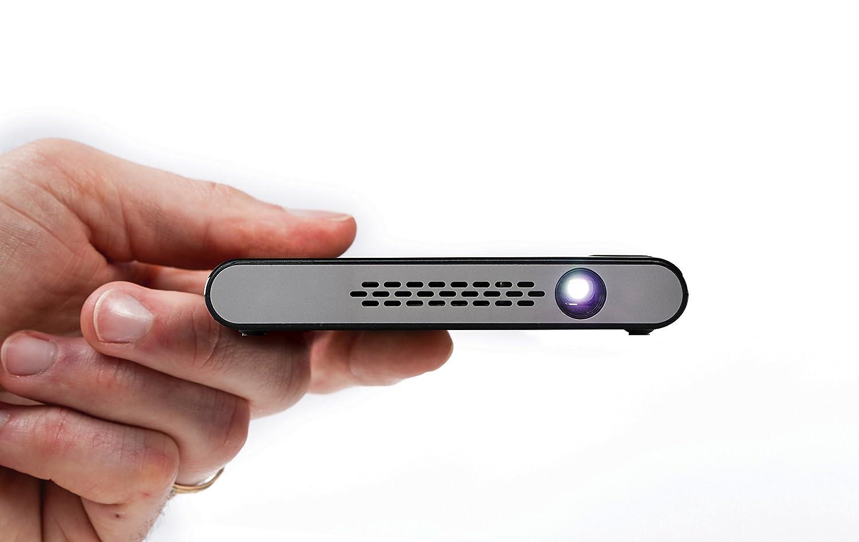 Miroir マイクロプロジェクター M45 エレメントシリーズ LEDランプ 充電式バッテリー内蔵 HDMI入力 B077XQJQXQ