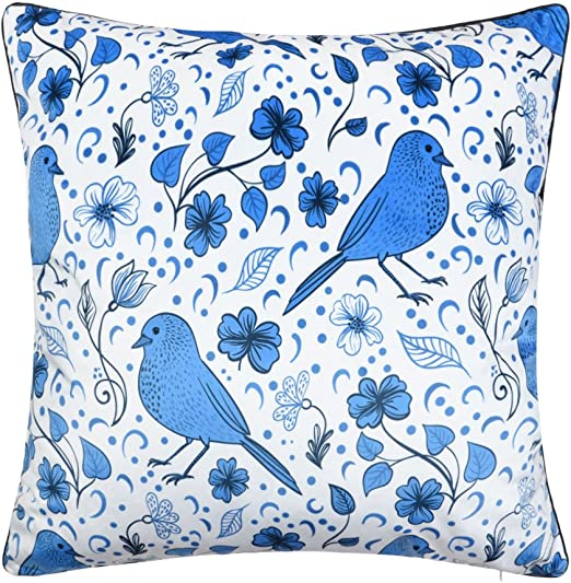 Blue Feather Long Cushion Covers Pillow Cases Home Decor or Inner