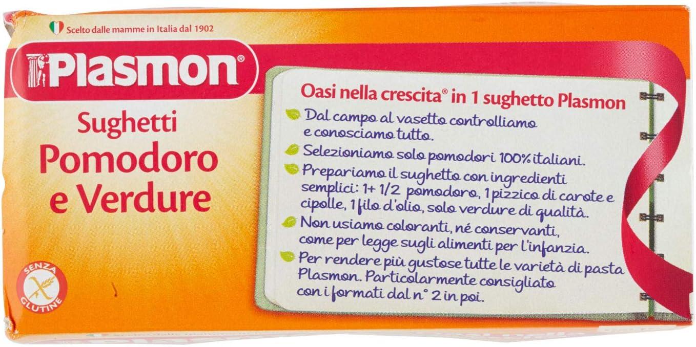 Totale 2 vasetti da 80 gr Plasmon Sughetto Pomodoro e Ricotta 160 g