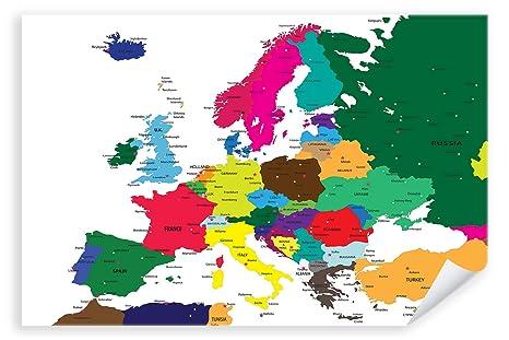 Postereck Premium Poster 0937 Politische Karte Europa Lander