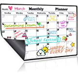 Homein Magnetic Calendar Dry Erase Whiteboard for Fridge, 2019 Weekly & Monthly Planner White Board Memo with Strong Magnet Use as Planner Calendar, Grocery, to Do List Planner Organiser 43x30cm