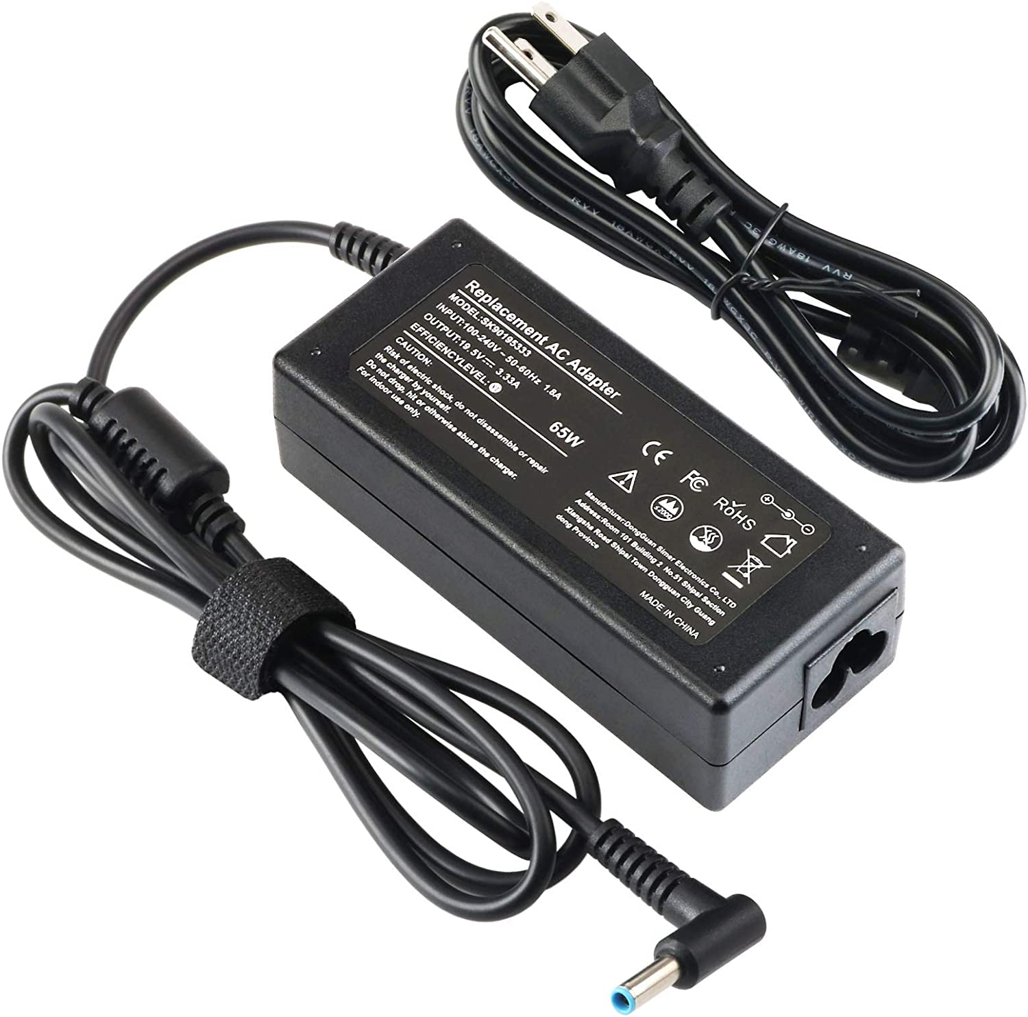 65W 45W AC Adapter Charger for HP Envy X360 13 17 Series 13-d010nr 13-ad173cl 13-ad173cl 13-ad010nr 13-ad065nr 13-ad010nr 13-ah0010nr 17-s143cl 17-j160nr 17-j130us Power Supply Cord