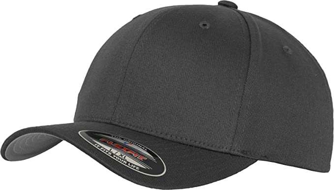 3c70cbeb6 Flexfit Silver Wooly Combed Stretchable Fitted Cap Kappe Baseballcap Basecap