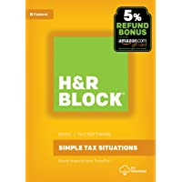 H&R Block Tax Software Basic 2017 with 5% Refund Bonus Offer [PC Download]