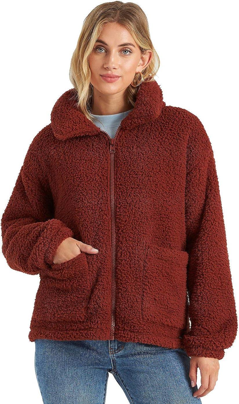 Billabong Women's Scenic Route Fleece Popular Award-winning store product Jacket Cozy
