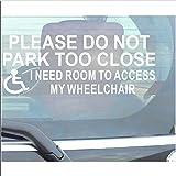 'Platinum Place panneau en vinyle autocollant pour les personnes handicapées véhicule Please Do Not Parc Too Close