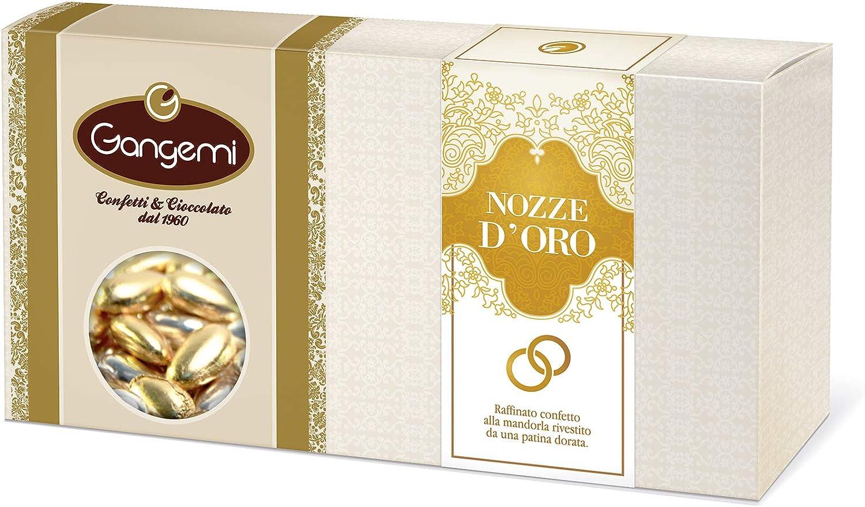 Gangemi NOZZE DORO - 1kg Peladillas Grageas con la Almendra - Clásica de la boda italiana - Refinado con pátina Dorada - (aprox. 180): Amazon.es: Alimentación y bebidas