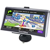 "TruckWay GPS - Pro Series Model 720 - Truck GPS 7"" Inch for Truck Drivers Navigation Lifetime North America Maps (USA + Canada) 3D & 2D Maps, Touch Screen, Turn by Turn Directions"