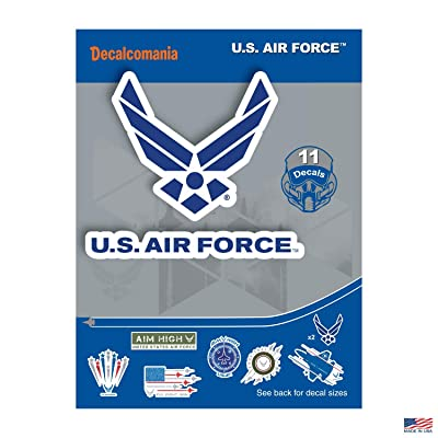 "United States AIR Force - 11 Piece USAF Licensed Stickers for Car Truck Windows, Phones, Tablets, Laptops - Large Military Decals from 2"" to 5.7"" Car Decals Military: Automotive"