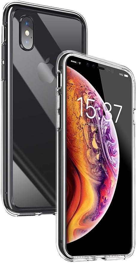 Vau Iphone Xs Max Hülle Hybrid Case Transparent Amazon De Elektronik