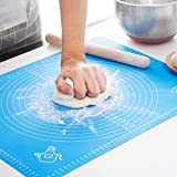LIMNUO Silicone Pastry Mat for Pastry Rolling with Measurements, Thick Non Stick Baking Mat with Measurement Fondant Mat…
