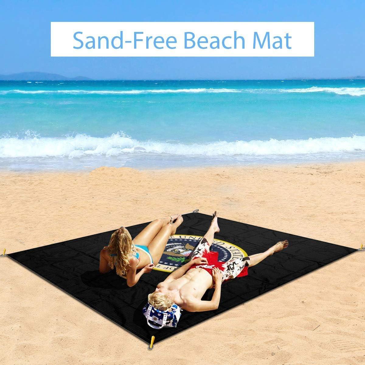 wasserdichte Strandmatte faltbare Outdoor-Teppich WGYWE Seal-President-Of-The-United-States Tragbare Picknick-Decken