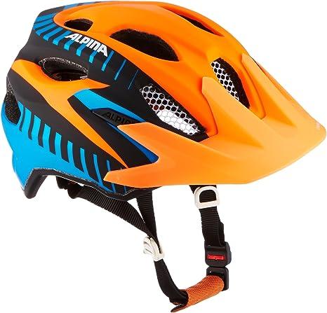 Alpina Kinder Radhelm Carapax Jr Fahrradhelm Orange Black Blue 51 56 Amazon De Sport Freizeit