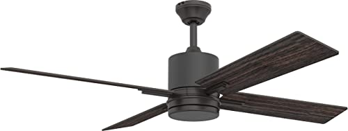 Craftmade Ceiling Fan with LED Light TEA52ESP4-UCI Teana 52 Inch and Remote, Espresso