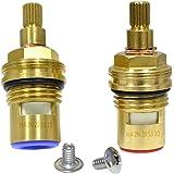 GI Universal Replacement Brass ceramic disc tap valve insert gland cartridge quarter turn by Seawhisper
