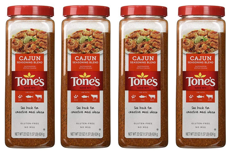Tones Cajun Seasoning - 22 oz. shaker (4 Pack)
