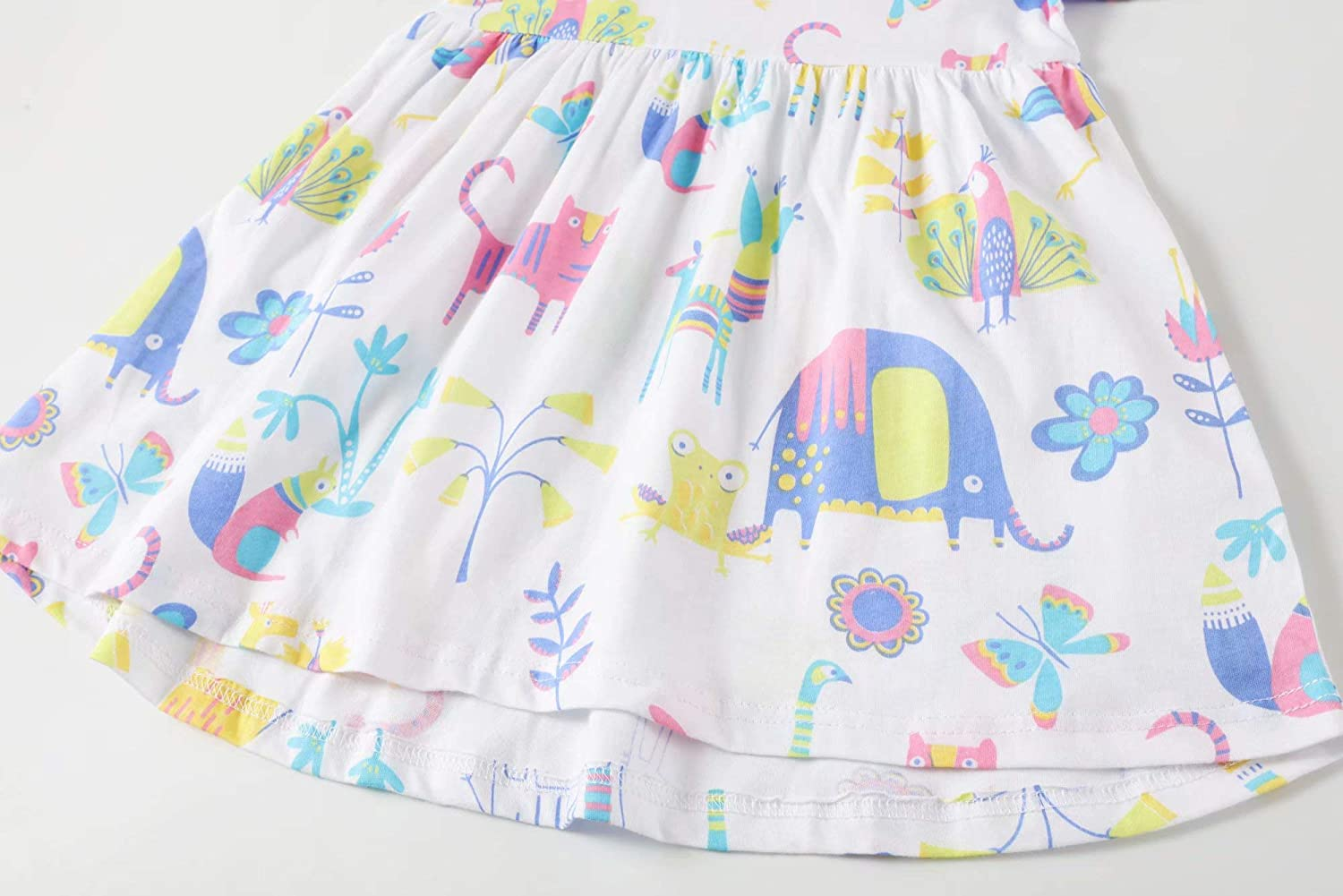 BIBNice Toddler Girl Dresses Kids Summer Cotton Casual Dress Size 2Y-9Y