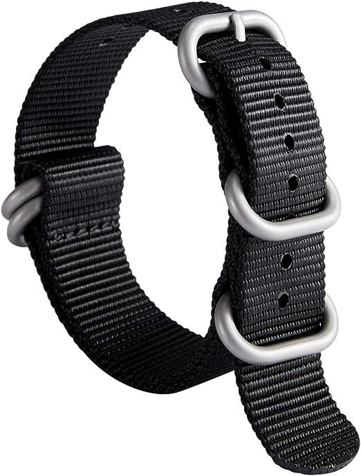 Bracelet de Montre OTAN Zulu épais G10 Bande de Montre de Remplacement en Nylon balistique de qualité supérieure pour Hommes, 18 mm, 19 mm, 20 mm, 21