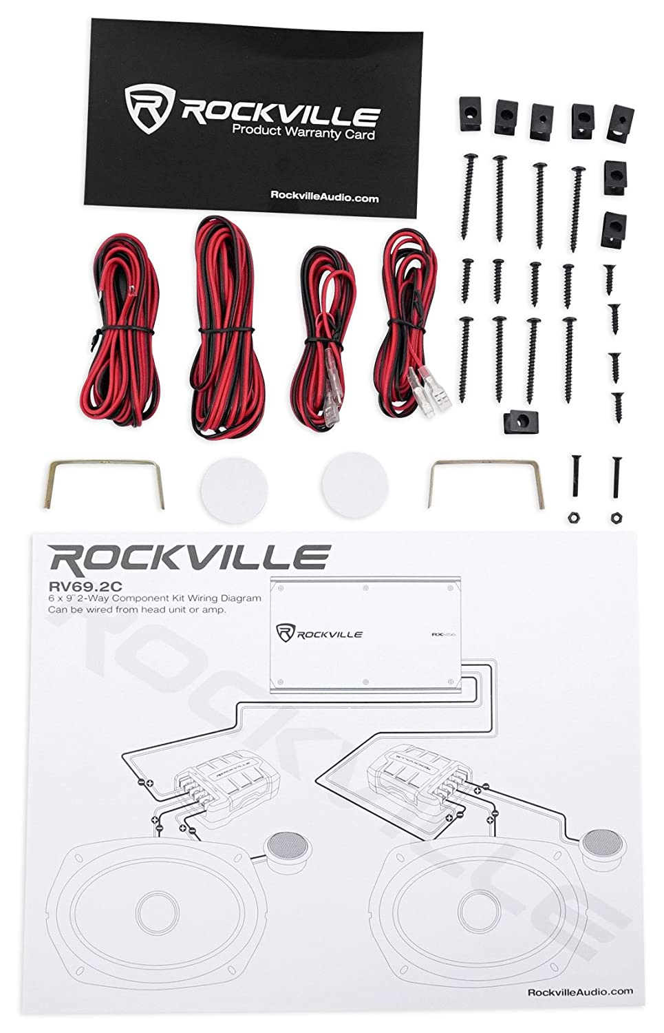 "Amazon.com: Pair Rockville RV69.2C 6x9"" 1000w Component Car Speakers+(2)  6x9"" 4-Way Speakers: Car Electronics"
