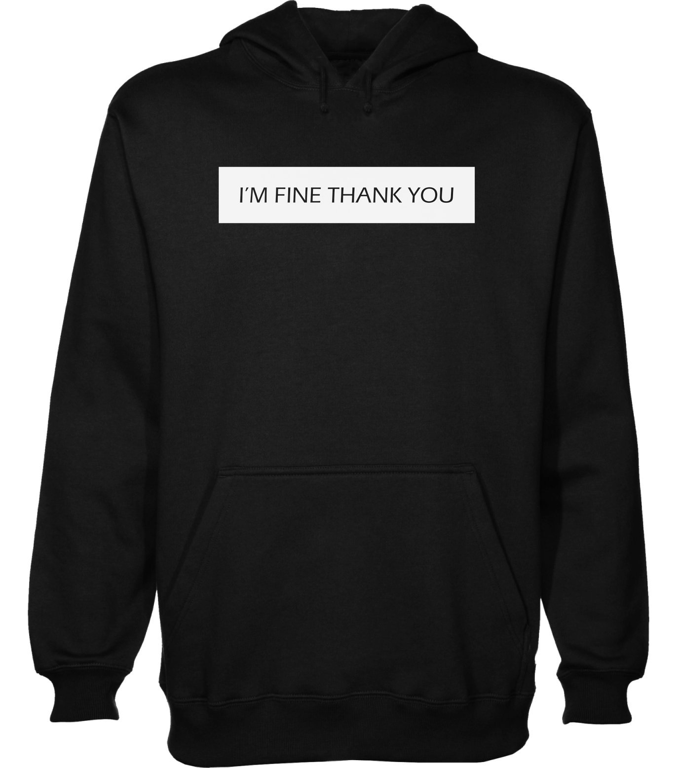 idcommerce I'm Fine Thank You Men's Hoodie Pullover Large