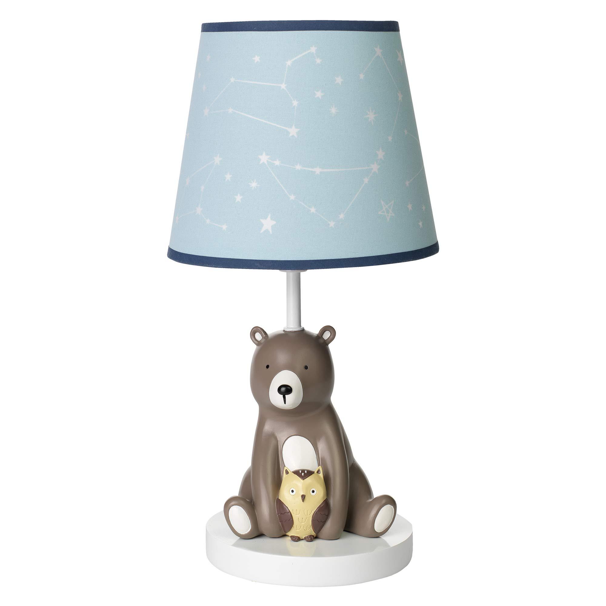 Lambs & Ivy Sierra Sky Blue/Brown Bear Nursery Lamp with Shade & Bulb by Lambs & Ivy