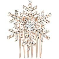 Ever Faith Snowflake Hair Comb Clear Austrian Crystal