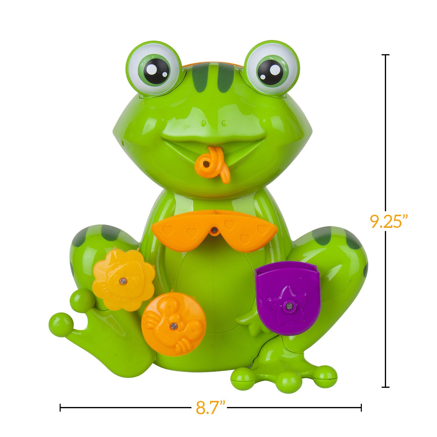 amazon com fun interactive frog bath toy for toddlers for girls