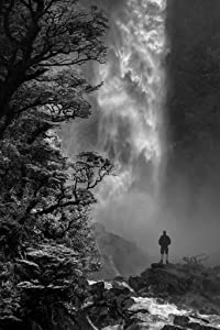 Devils Punchbowl Waterfall Falls Black and White Landscape Photo Photograph Cool Wall Decor Art Print Poster 24x36