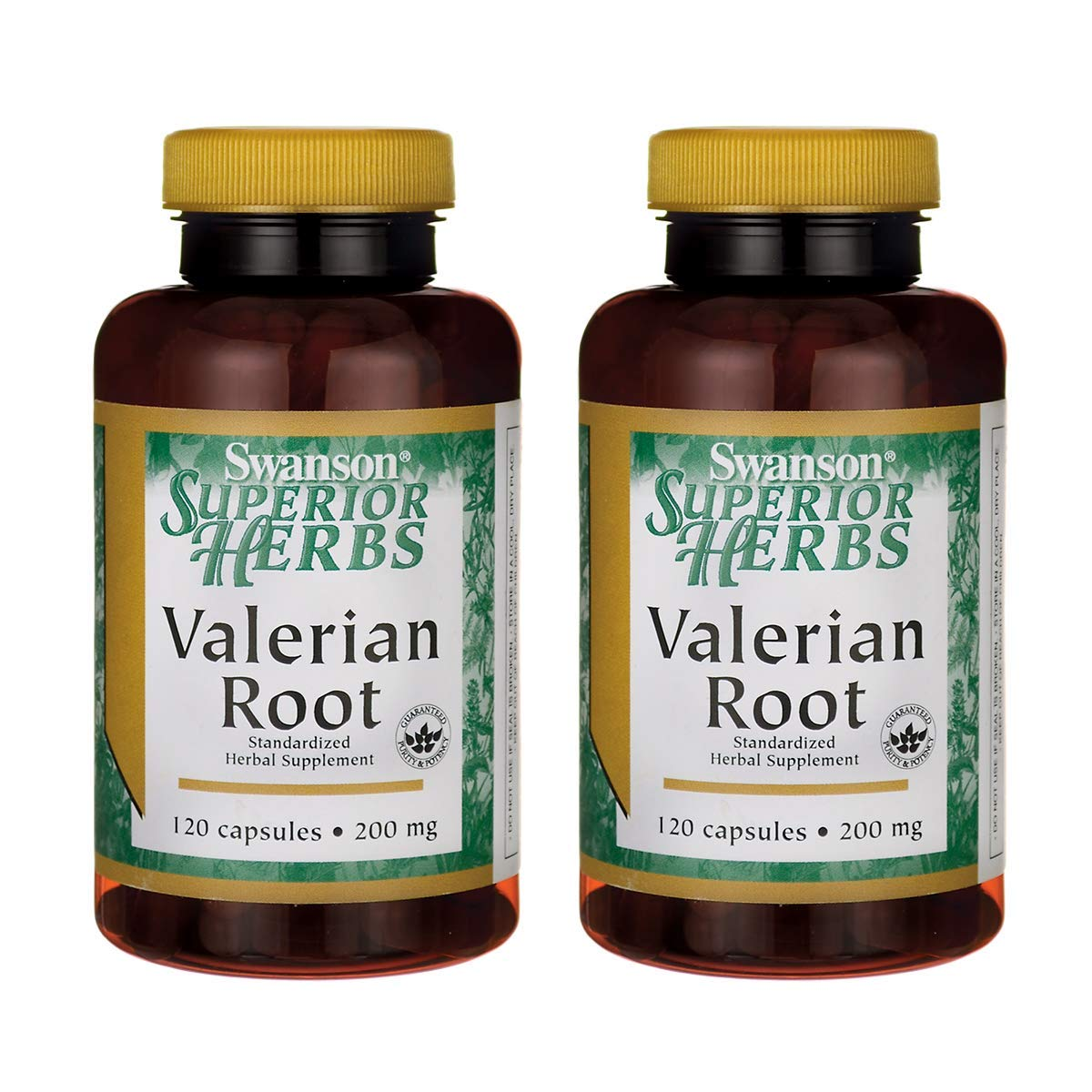 Swanson Valerian Root (Standardized) 200 Milligrams 120 Capsules (2 Pack)