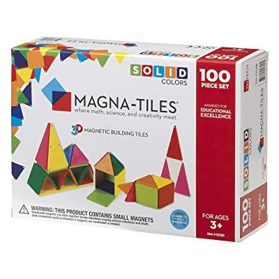 Magna-Tiles 02300 Solid Colors 100 Piece Set: Toys & Games [5Bkhe0806032]