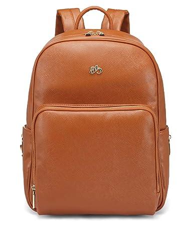 LCY Wickeltasche mit Wickelunterlage und Kinderwagengurten aus PU-Leder
