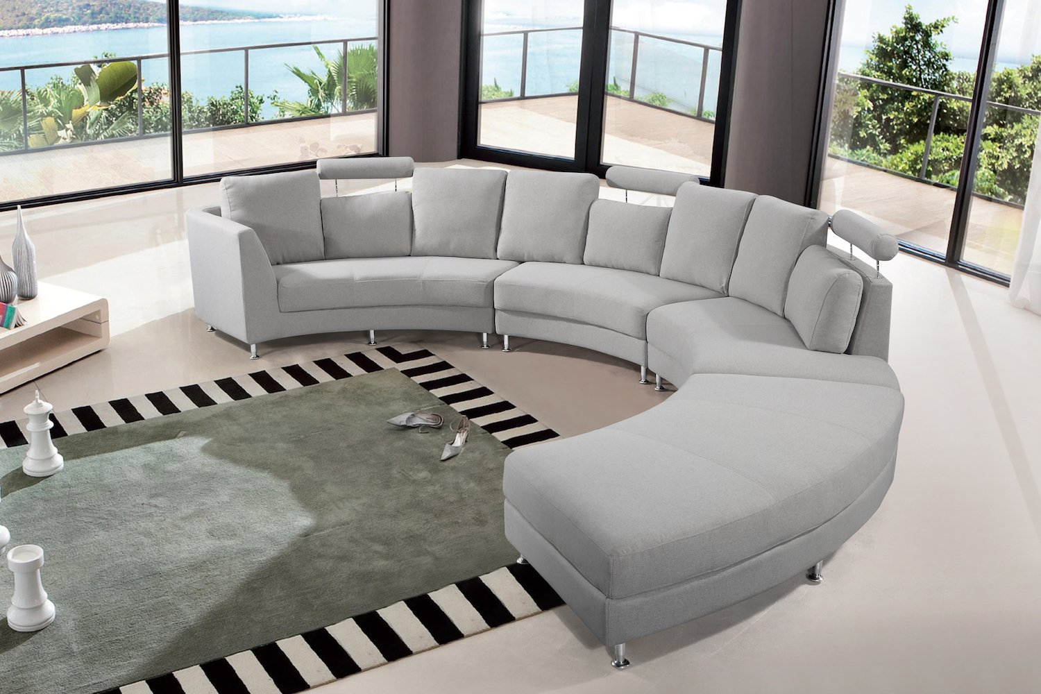 Amazon.com: velago muebles de patio Rossini tela Circular ...