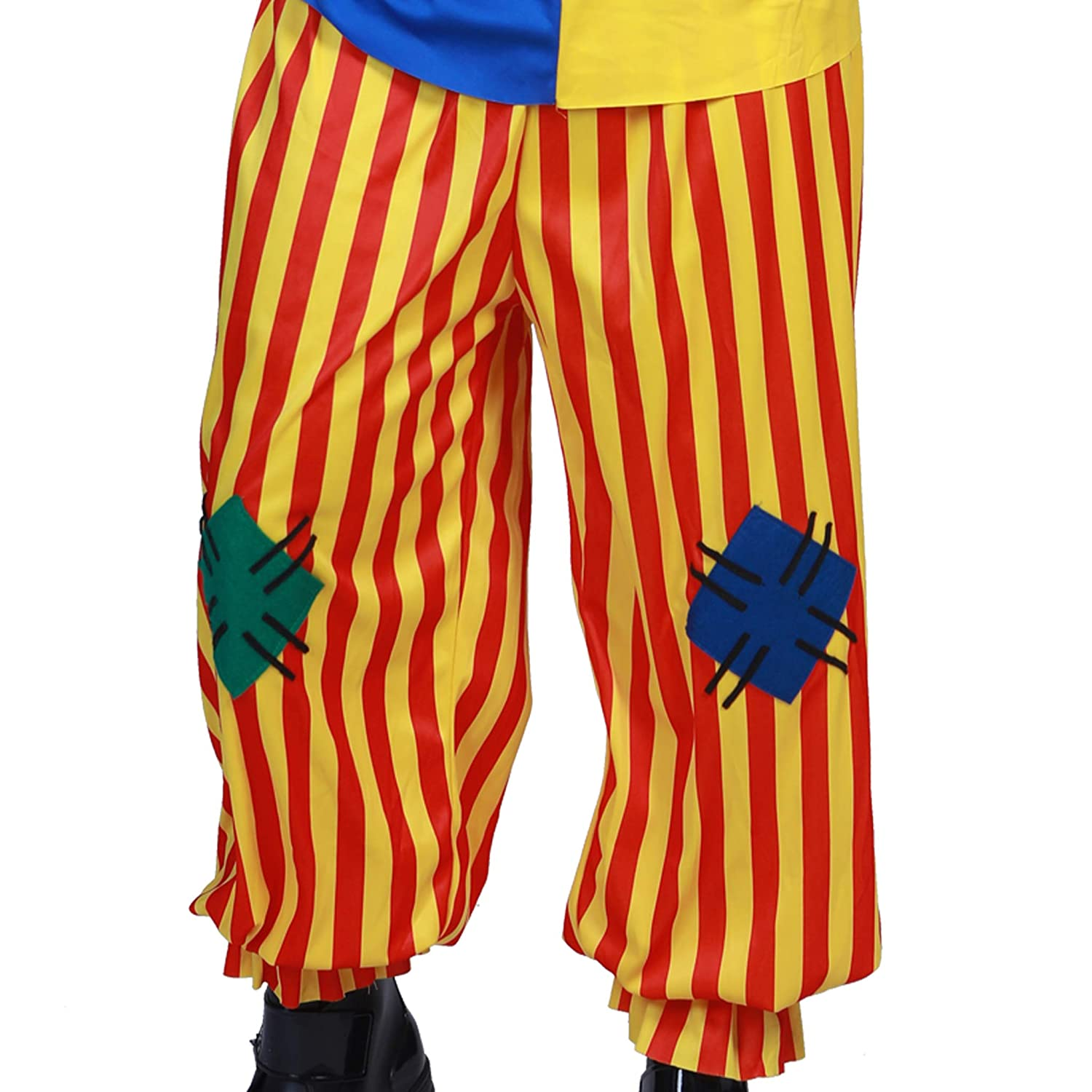 9f427a4ccd9e Amazon.com: Adult Unisex Clown Costume Colorful Patchwork Circus Overalls  Joker Role Play: Clothing
