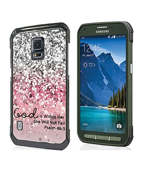 buy popular c2082 23374 Galaxy S5 Active Case Christian Quotes,God Is Within Her She Will Not Fall  Psalm 46:5 Bible Verse Pattern Hard PC Protective Case Cover for Samsung ...